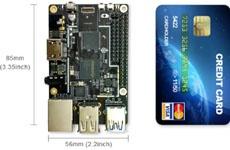 Одноплатный компьютер ROCK64 по размерам сравним с банковской картой