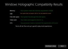 Microsoft назвала системные требования компьютеров для Windows Holographic VR