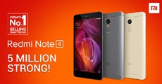 Xiaomi продала 5 млн Redmi Note 4 в Индии всего за полгода