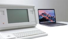 Первый ноутбук Apple 1989 года сравнили с MacBook Pro 2016