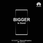 Huawei обещает, что дисплей Mate 10 будет больше, чем у Galaxy Note 8