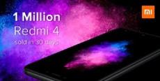 Xiaomi удалось продать 1 миллион смартфонов Redmi 4 в Индии всего за 30 дней