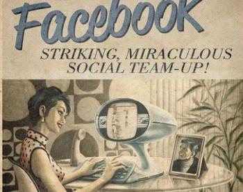 Социальные сети в винтажном стиле (Фото)