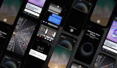 Таким может быть iPhone 8 с тёмным интерфейсом