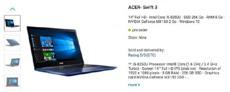 Acer Swift 3 одним из первых получит процессоры Intel Coffee Lake
