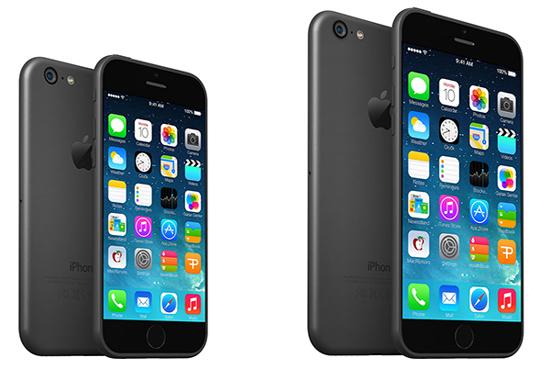 Скриншот iOS 8 на экране большого iPhone 6?