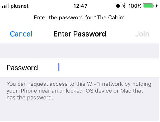 В iOS 11 можно легко делиться паролем от Wi-Fi