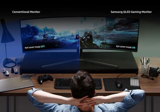 Samsung представила 49-дюймовый монитор на квантовых точках с соотношением сторон 32:9