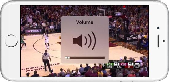 В iOS 11 индикатор громкости больше не перекрывает видео на экране