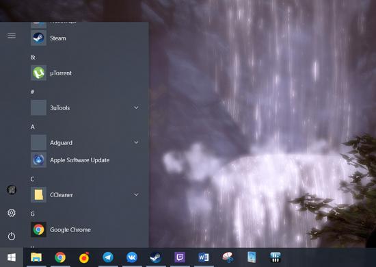 Что делать, если в меню Пуск в Windows 10 неверно отображаются иконки