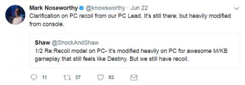 В PC-версии Destiny 2 оружие будет работать лучше, чем на консолях
