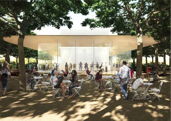 Кафе Apple Park готовится к приему посетителей
