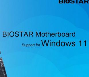 Стало известно, какие платы Biostar поддерживают Windows 11