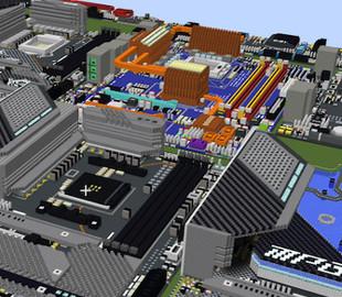 В Minecraft воссоздали материнские платы AMD и Intel
