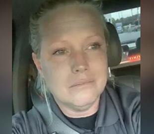 Женщина-полицейский расплакалась из-за долгого ожидания еды и превратилась в мем