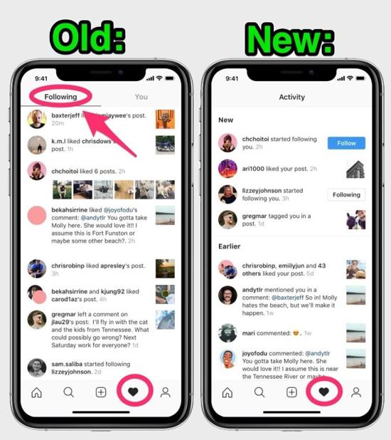 Instagram удалил возможность следить за лайками и комментариями друзей
