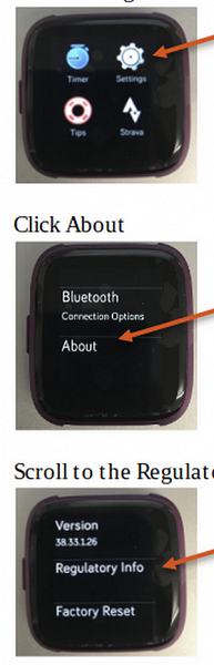 The Network showed live pictures of smart watches Fitbit